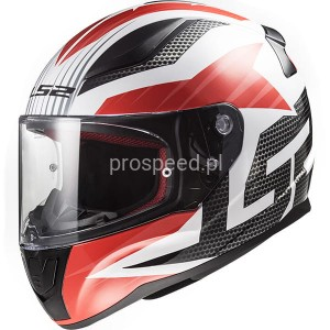 Kask Motocyklowy LS2 RAPID GRID WHITE RED